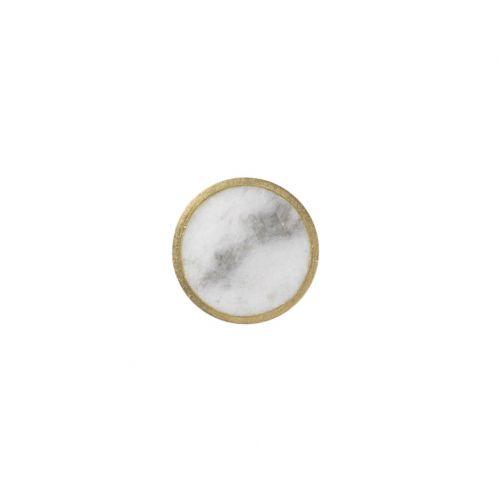 Kovový háček s mramorem White Marble