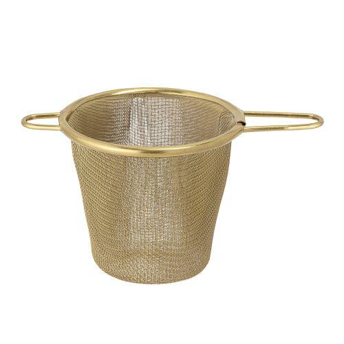 Kovové sítko na čaj Gold Steel