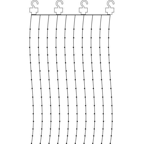 Světelný LED závěs Light Chain Dew Drop 100 x 200 cm