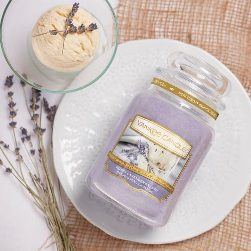 Svíčka Yankee Candle 411g - Honey Lavender Gelato