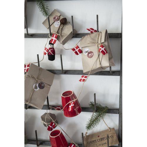 Adventní samolepky s čísly Christmas Calendar