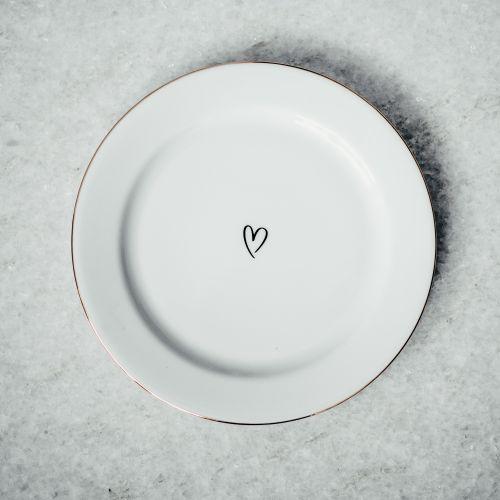 Dezertní talířek Srdíčko 19 cm