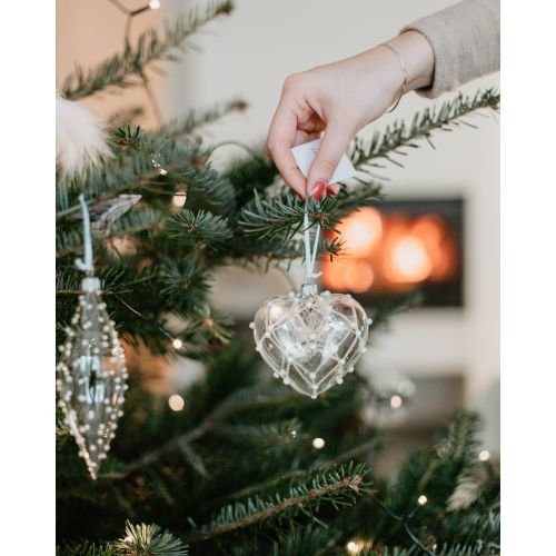 Vánoční ozdoba Crystal Clear Pearls & Matt 16 cm