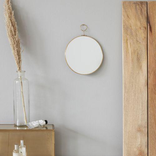 Nástěnné zvětšovací zrcadlo Brass 22cm