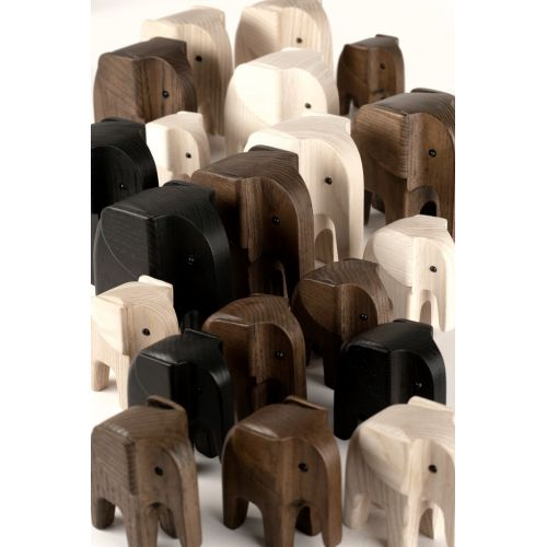 Dřevěný slon Baby Elephant Natural Ash