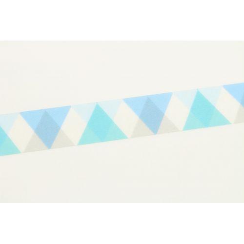 Japonská papírová páska Blue Triangle and Diamond