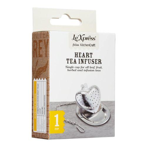 Sítko na čaj s táckem Le'Xpress Heart