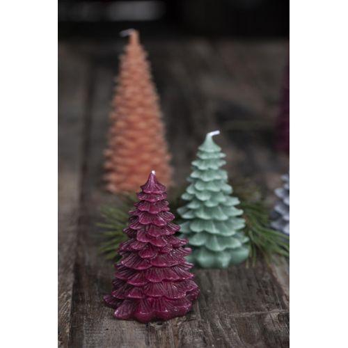 Vánoční svíčka Christmas Tree Burgundy