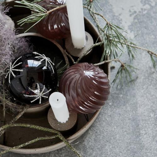 Vánoční baňka Star Burgundy - 8cm