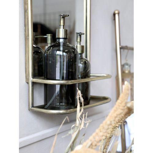 Skleněný dávkovač na mýdlo Coal 480 ml