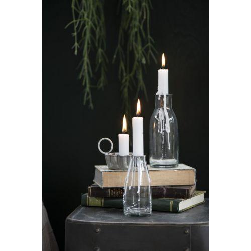 Skleněný svícen na vysokou svíčku Glass 13 cm