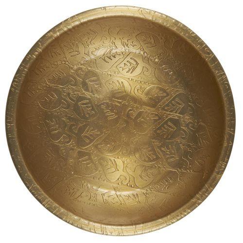 Kovový tácek Leaf Pattern Gold