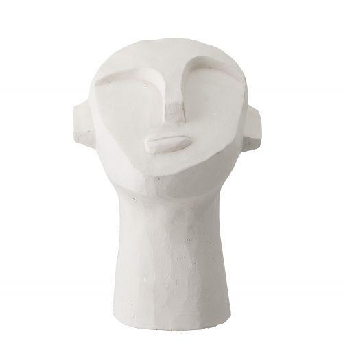Dekorace Face White Cement