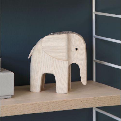 Dřevěný slon Elephant Natural Ash