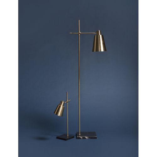 Stojací lampa Brass