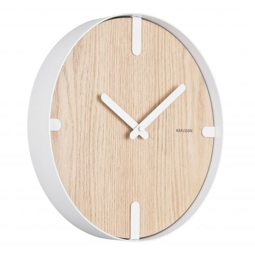 Nástěnné hodiny Dashed Natural/White