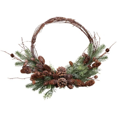 Dekorativní věnec Branches and Cones 36 cm
