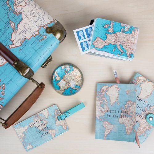 Obal na pas Vintage Map