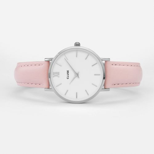 Hodinky Cluse Minuit Silver white/pink