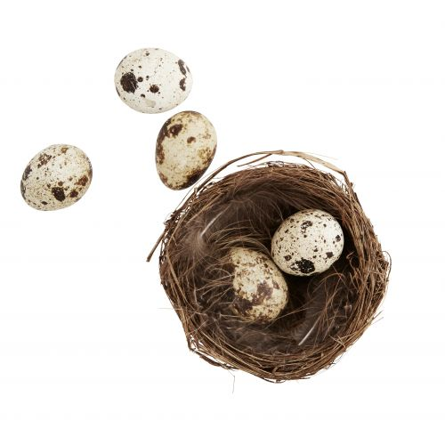 Dekorativní ptačí hnízdečko s pírky