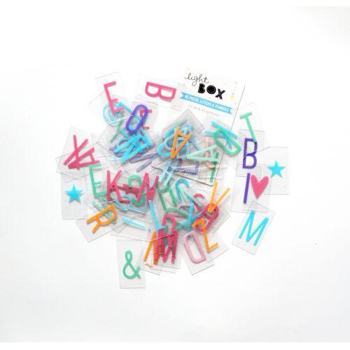 Set písmenek pro Lightbox Pastel
