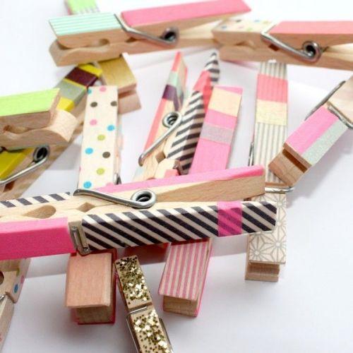 Designová samolepící páska Number pink