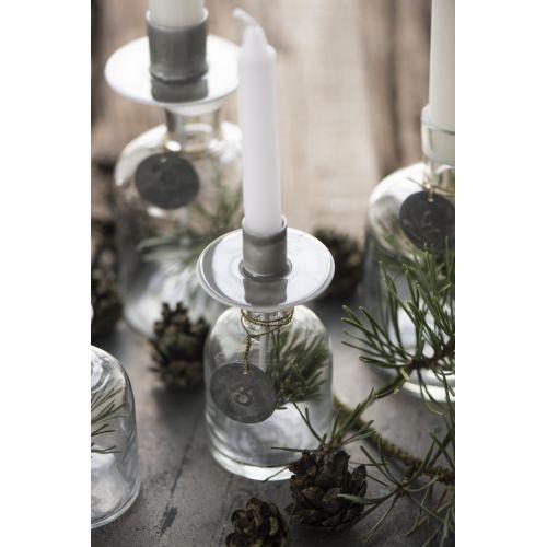 Zapichovací svícen na svíčku Grey