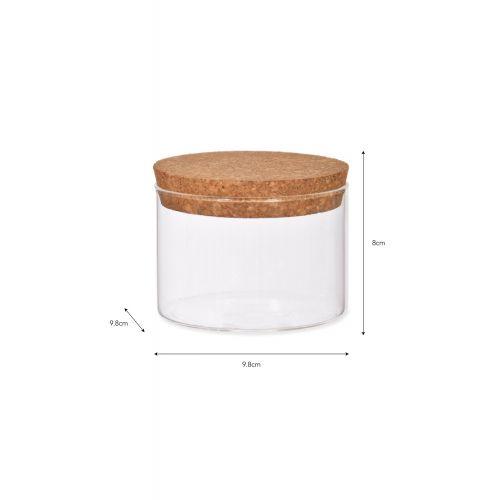 Skleněná dóza Cork - 370 ml