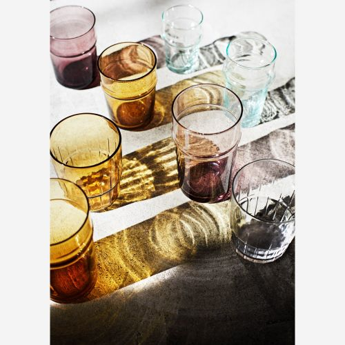 Sklenička Clear Glass Stripes