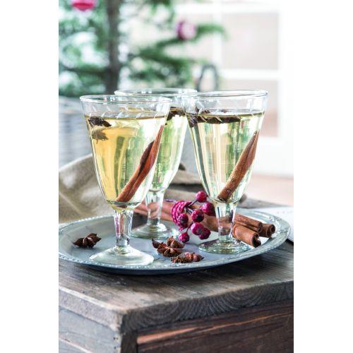 Sklenička na bílé víno Leaves