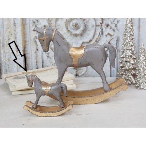 Dřevěná dekorace Rocking Horse 12 cm