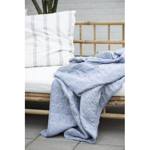 Prošívaná deka Dusty Blue Serafina Pattern