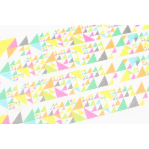 Designová samolepicí páska Sankaku pink