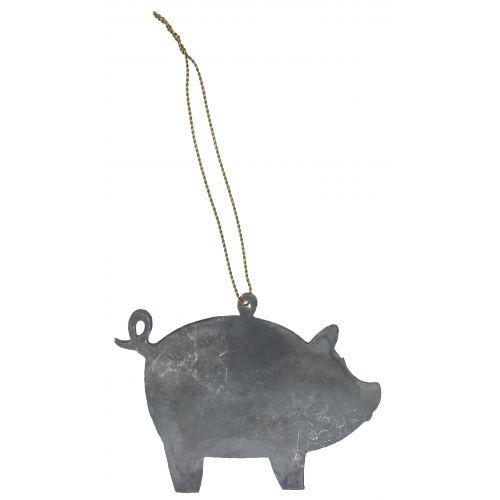 Kovová ozdoba Pig