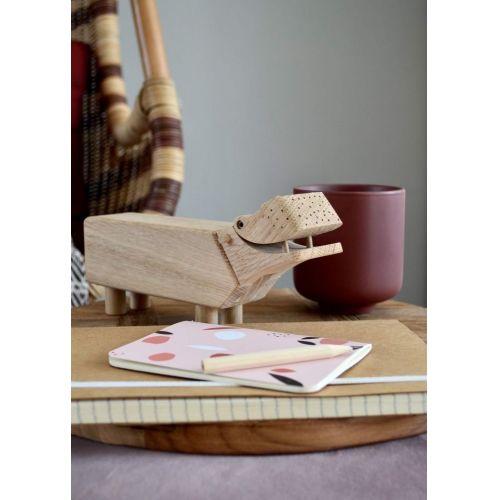 Dřevěný hrošík Hippo Oak Wood