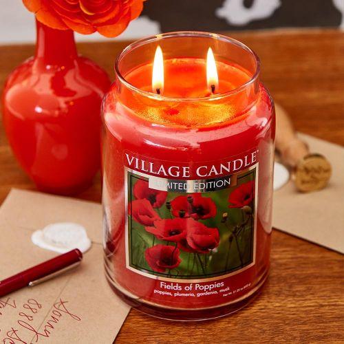 Svíčka Village Candle - Fields of Poppies 602g