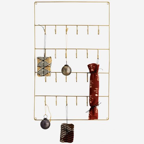 Kovový věšák s 24 háčky Antique Brass