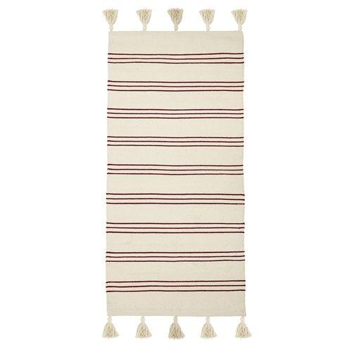 Bavlněný koberec Red Stripe 60x120 cm