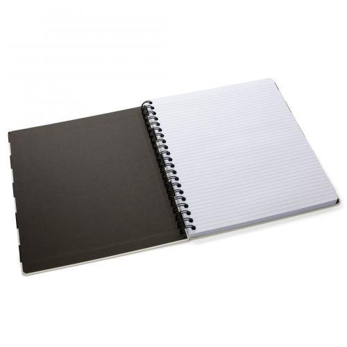 Notes v kroužkové vazbě Black stripe 28 cm