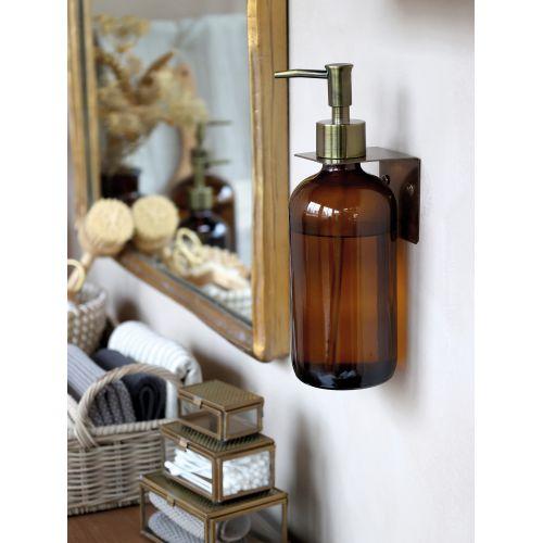 Skleněný dávkovač na mýdlo Mocca 480 ml