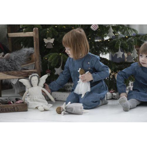 Vánoční textilní ozdoba Textile Christmas Angel
