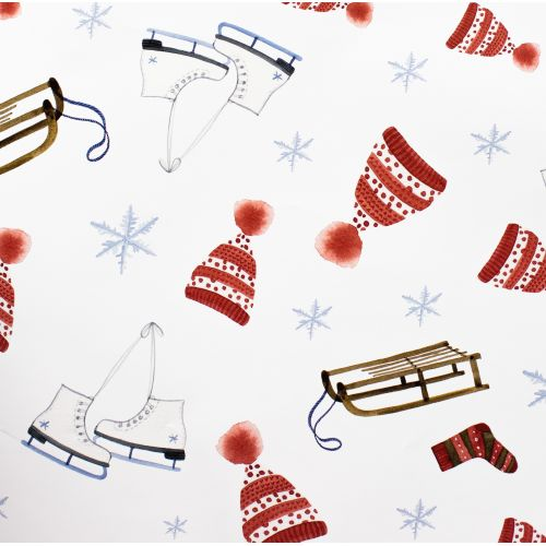 Vánoční balicí papír Sáňky A1