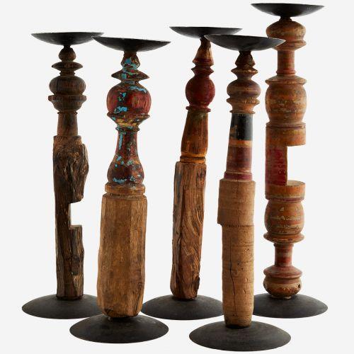 Svícen z recyklovaného drřeva Candle Holder