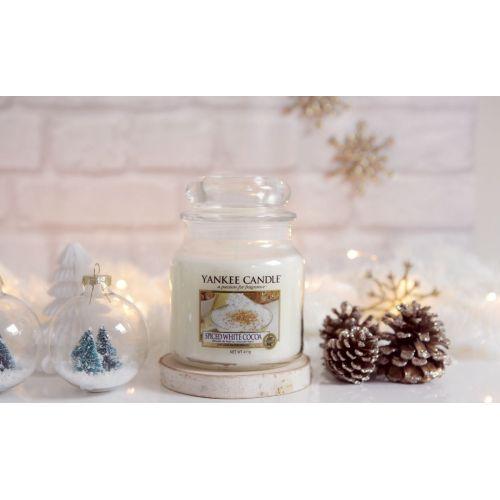 Svíčka Yankee Candle 411gr - Spiced White Cocoa