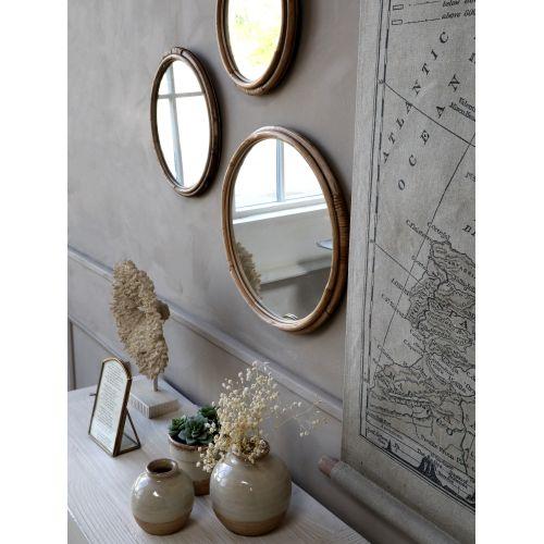 Zrcadlo v bambusovém rámu Nature 23cm