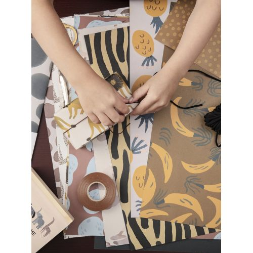 Sada dětských balících papírů Fruiticana and Safari