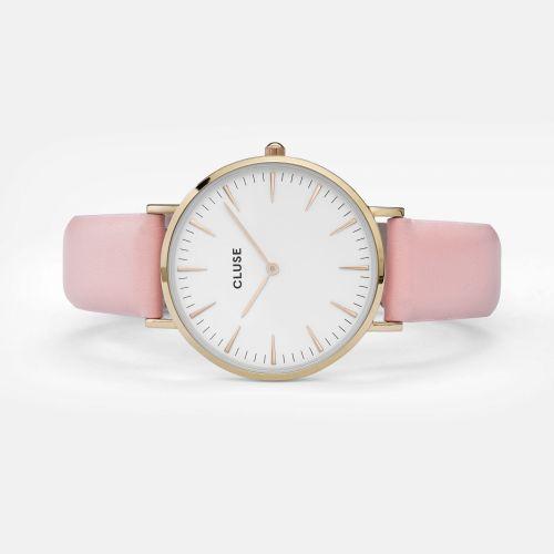 Hodinky Cluse La Bohéme Gold white/pink