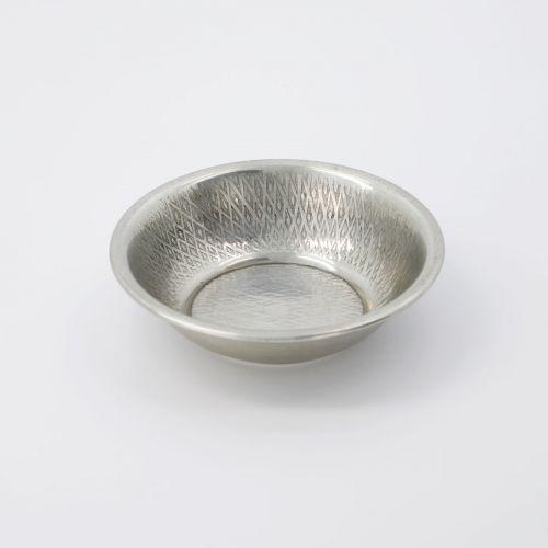 Kovový tácek Tura Antique Silver 12 cm