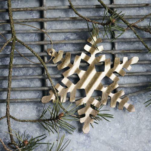 Vánoční ozdoba Gold Snowflake 11,7 cm