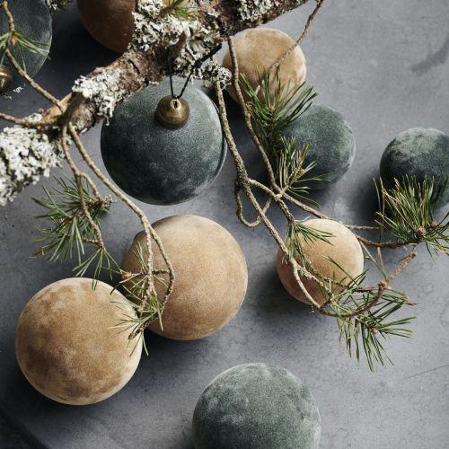 Vánoční ozdoba Flock Dark Green Ø 5,5 cm